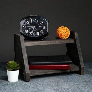 """Полка деревянная """"Подиум"""", цвет черный, 21 х 32 х 19 см"""