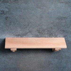 Полка «Кантри» не крашенная, массив бука, 50х10 см