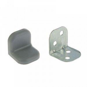 Уголок крепежный, с пластиковой крышкой, цвет металлик, тип 2