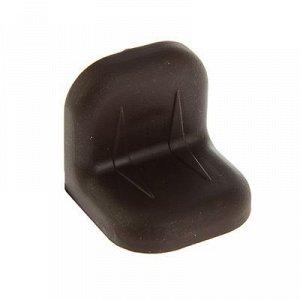 Уголок крепежный, с пластиковой крышкой, цвет венге, тип 2