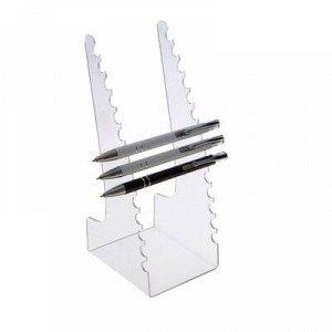 Подставка под ручки и карандаши 8,3*10*20 см, оргстекло 2 мм в защитной плёнке