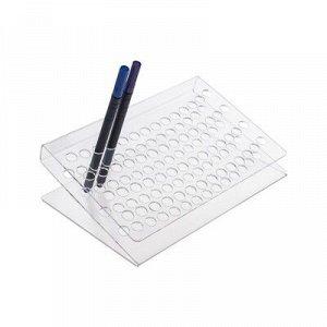 Подставка под ручки и карандаши 19*16*8 см, оргстекло 2 мм в защитной плёнке