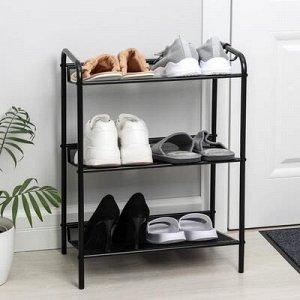 Подставка для обуви Женева-13, 3 полки, 45?27?60 см, цвет чёрный