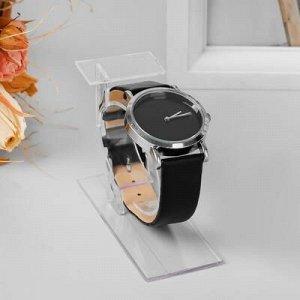 Подставка для часов/браслетов, с ценникодержателем, основание 3,5*8,5 см, h=6 см, оргстекло 2 мм, цвет прозрачный