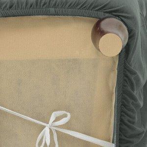 Чехол для мягкой мебели ,4-х местный диван,наволочка 40*40 см в ПОДАРОК,серый