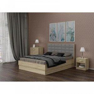 Кровать Оливия 1600х2000 с ПМ и орт.основанием дуб сонома/азимут клэй