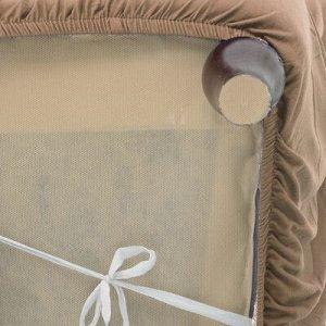 Чехол для мягкой мебели ,4-х местный диван,наволочка 40*40 см в ПОДАРОК,бежевый