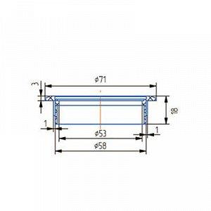 Заглушка кабель-канала, d=60 мм, светло-серая