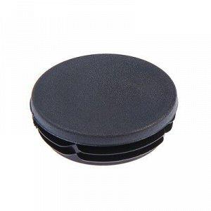 Заглушка для труб круглая, d=89, черная