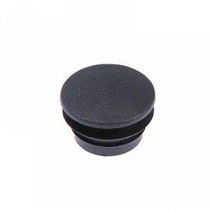 Заглушка для труб круглая, d=40, черная