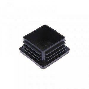Заглушка для труб квадратная, 50х50 мм, черная