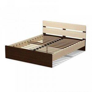Кровать 160 (с орт.основанием) Эксон 1656х842х2048, дуб млечный/венге