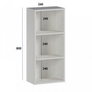 Шкаф навесной 24 х 24 х 80 см, две полки