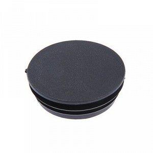 Заглушка для труб круглая, d=76, черная