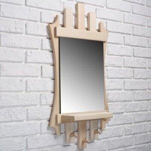 "Зеркало резное ""Лесенка"" с 3мя крючками, 75?40 см"