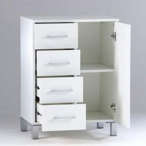 Комод для ванной комнаты, четыре ящика 60 x 40 x 80 см
