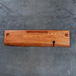 Подставка для ванной с вырезом для гаджетов, ясень, 80х20х2 см