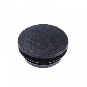 Заглушка для труб круглая, d=57, черная