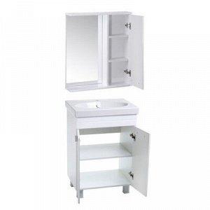 Комплект мебели Квадро 60: тумба с раковиной + шкаф-зеркало