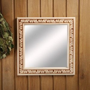 """Зеркало настенное """"Лепесток"""" для бани, 38?38 см"""