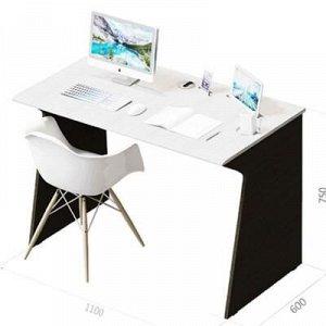 Стол Отличник, 1100х600х750, Бодега темный/Сандал белый, без гнезда USB