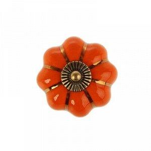 Ручка-кнопка Ceramics 001, керамическая, оранжевая