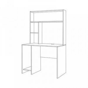 Стол компьютерный Комфорт 12.72, 1000х600х1654, Дуб серый/Шелковый камень