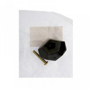 Ручка-кнопка Ceramics 026, керамическая, чёрная