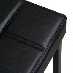 Стул барный ЛОФТ-1 со спинкой, черный/черный