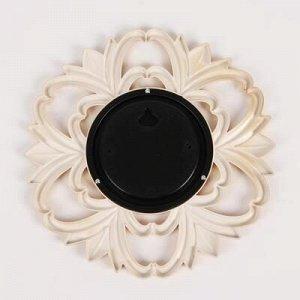 Зеркало настенное «Цветочки», d зеркальной поверхности 11 см, цвет золотистый