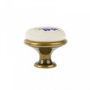 Ручка-кнопка керамическая К8005, старая бронза,