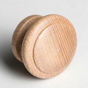 """Ручка мебельная кнопка """"Классическая тип 2"""", крашеная, цвет бук, d-45, L-32 мм"""