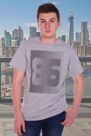 Футболка мужская 86, цвет серый, размеры 56-58