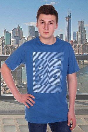 Футболка мужская 86, цвет синий, размеры 56-58