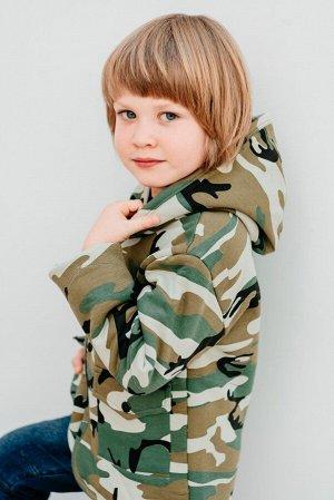 Пальто ВОИН, цвет милитари, размеры 104-122