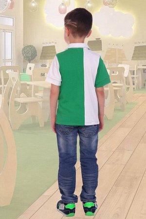 Поло НА КОНЕ, цвет зеленый, размеры 104-140