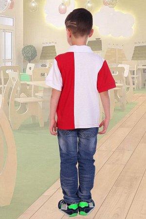 Поло НА КОНЕ, цвет красный, размеры 104-140