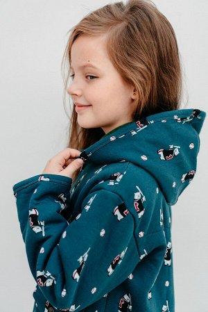 Пальто МЕДВЕЖОНОК, цвет зеленый, размеры 104-134