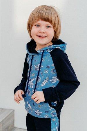 Костюм детский Космос, цвет синий, размеры 28-38