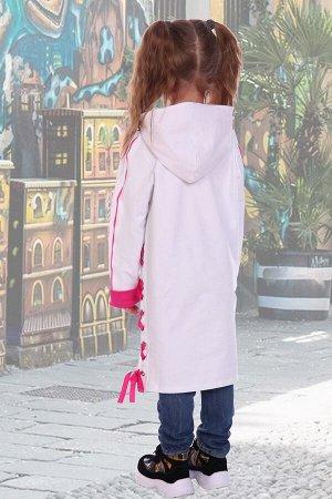 Платье-Туника Смайл, цвет белый, размеры 104-140
