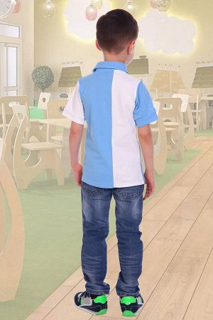 Поло НА КОНЕ, цвет голубой, размеры 104-140