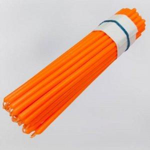 Восковая свеча ярко-оранжевая 1 час 5 штук