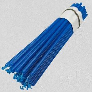 Восковая свеча ярко-синяя 1 час 5 штук