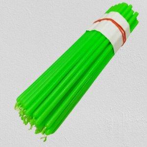 Восковая свеча ярко-зеленая 1 час 5 штук