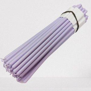 Восковая свеча светло-фиолетовая 1 час 5 штук