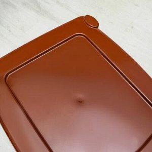 Комод 3-x секционный «Плетёнка», цвет бежево-коричневый