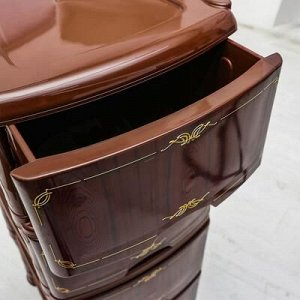 Комод 4-x секционный Виолет «Декор. Дерево», цвет коричневый