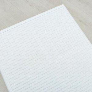 Комод 2-x секционный Виолет «Ротанг», цвет белый