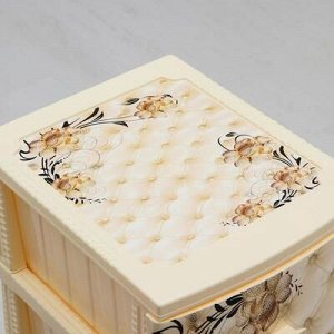 Комод 4-x секционный «Декор. Барокко», цвет слоновая кость