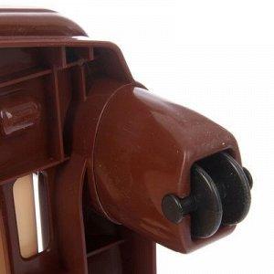 Комод 4-x секционный, цвет бежево-коричневый